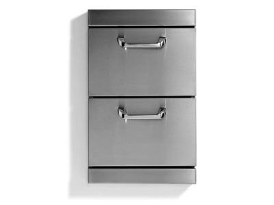 Lynx Classic Two Full Standard Utility Drawers With 5 Inch Offset Handles - LUDE
